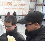 7 jeunes de l'internat éducatif et scolaire ont donné de leur temps pour aider bénévoles et salariés de la Banque Alimentaire de Bordeaux Gironde