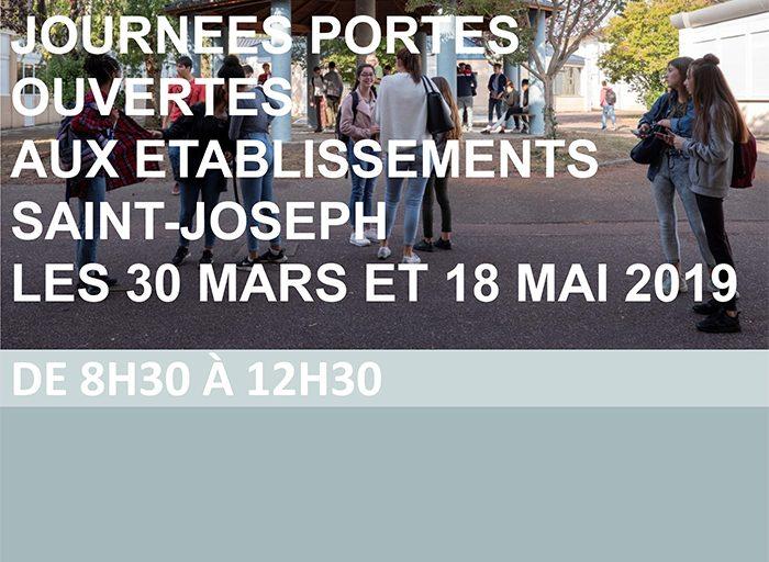 Les journees portes ouvertes 2019 auront lieu aux etablissements saint-joseph les 30 mars et 18 mai